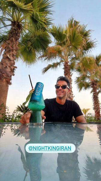 تبلیغات سیروان خسروی برای یک نوشیدنی + عکس