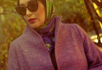 استایل خوش رنگ پاییزی سارا منجزی پور+عکس