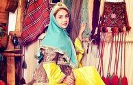 لباس زیبا و شاد شبنم قلی خانی+عکس