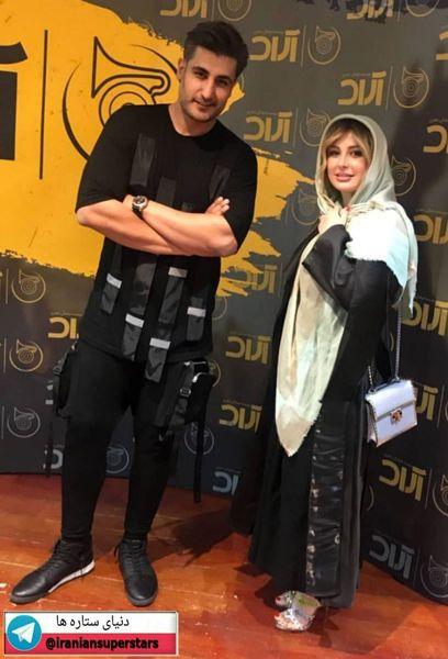 لباس عجیب شهاب مظفری در کنار نیوشا ضیغمی+عکس