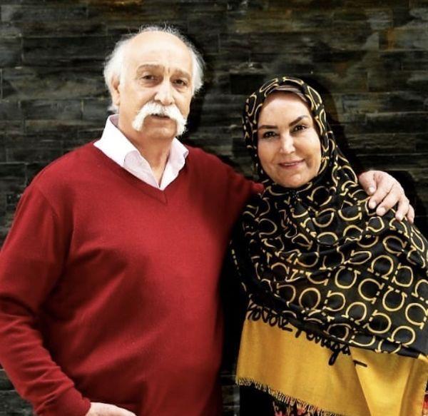 محمود پاک نیت و همسرش + عکس