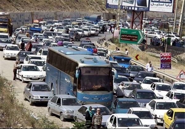 ترافیک وآلودگی هوا در ورودی های مهران
