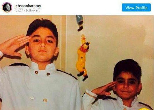 دوران کودکی احسان کرمی و برادرش + عکس
