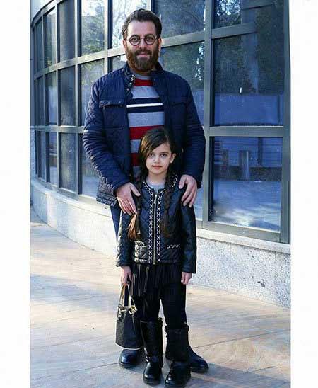 امیررضا دلاوری و دختر کوچولوش + عکس