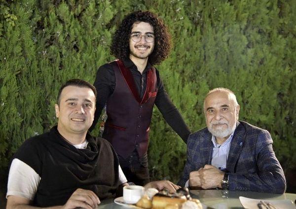 سپند امیرسلیمانی در کنار پدر و خواهر زاده اش + عکس