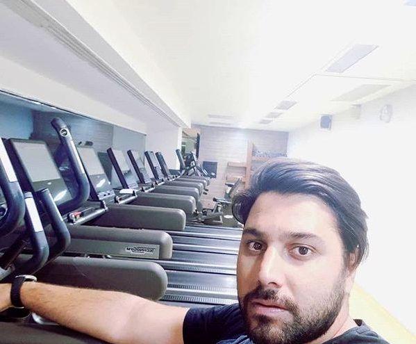 احسان خواجه امیری در باشگاه خصوصی اش+عکس