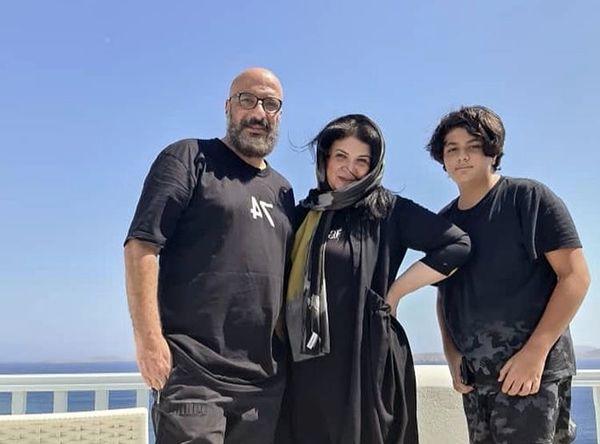 امیر جعفری در کنار همسر و پسرش + عکس
