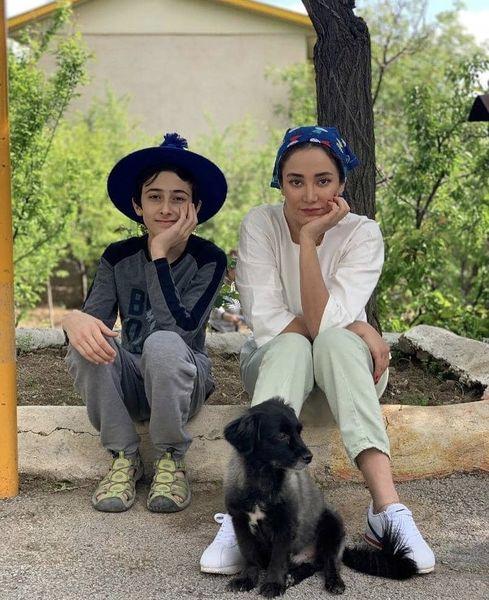 بهاره افشاری و پسرخاله اش + عکس