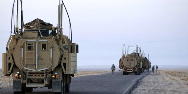 هدف قرار گرفتن 2 کاروان آمریکا در عراق هدف قرار گرفت