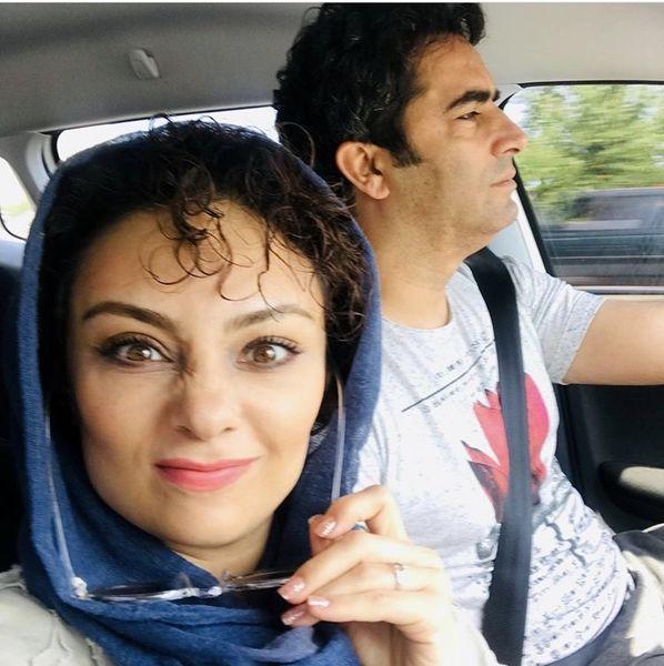سلفی متفاوت یکتا ناصر با همسرش + عکس