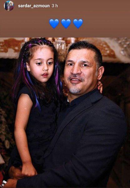 علی دایی و دختر زیبایش با موهای خاص+عکس