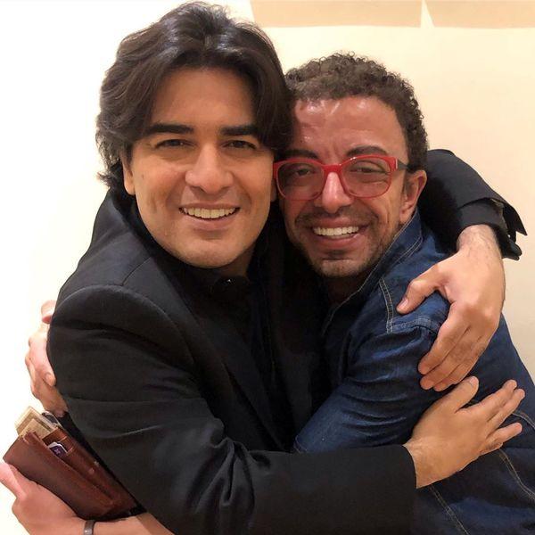 عکس خیلی مهربان سامان احتشامی با آقای بازیگر