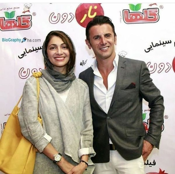 امین حیایی و همسرش در یک مراسم + عکس
