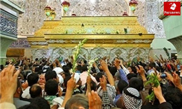 اولین مراسم غبارروبی ضریح جدید امام حسین (ع) انجام شد