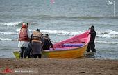 نوروز 1400 در ساحل بابلسر+تصاویر