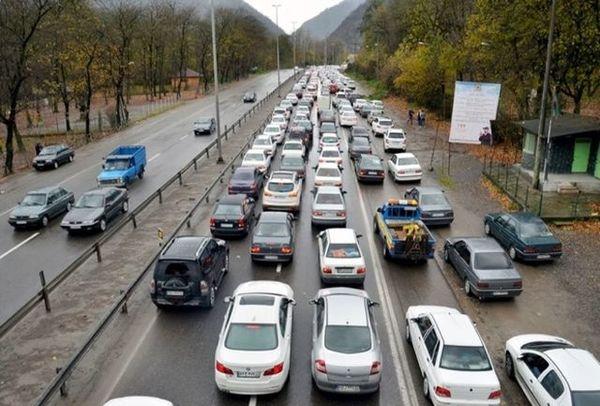 ترافیک راه های البرز سنگین شد