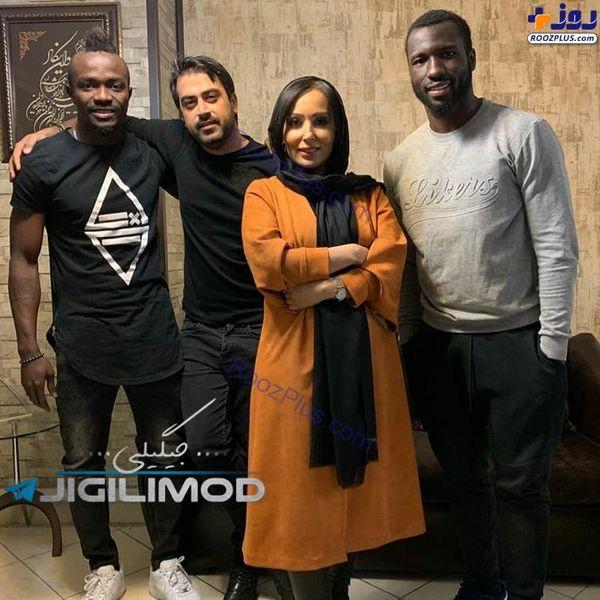 ملاقات دختر سینمای ایران با بازیکنان خارجی استقلال