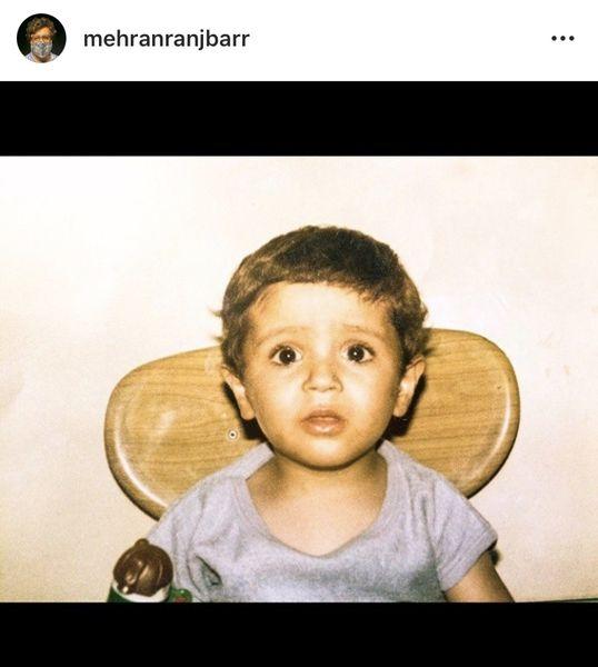 مهران رنجبر در کودکی + عکس