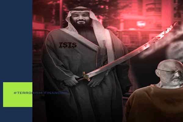 بن سلمان با شمشیر آغشته به خون در سایت داووس صحرا