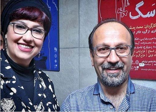 سلفی معصومه کریمی اینبار با اصغر فرهادی