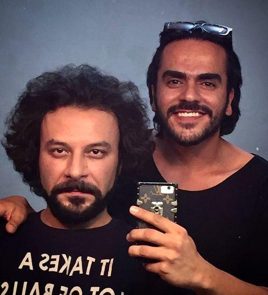 حسام منظور در حال گریم + عکس