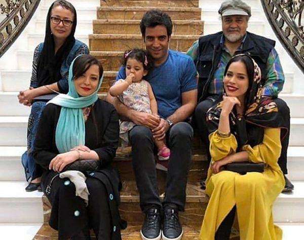 خانواده شریفی نیا در کنار خانواده یکتا ناصر+عکس