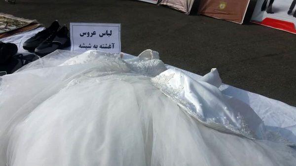 لباس عروس ساخته شده از مواد مخدر شیشه کشف شد+ عکس