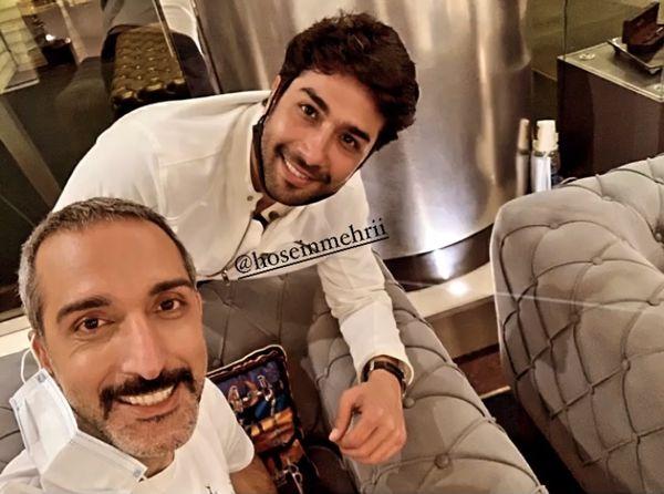 حسین مهری در کنار بازیگر خوب بد جلف + عکس