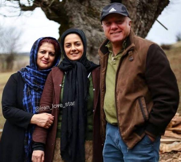 خانم بازیگر و خانواده اش+عکس