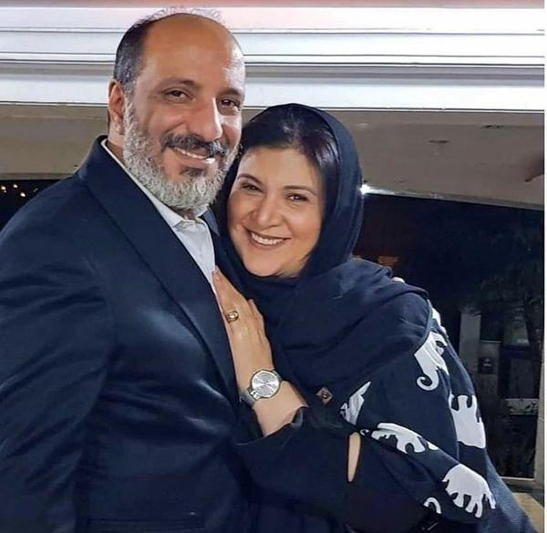 هما خانم پایتخت در آغوش همسرش + عکس