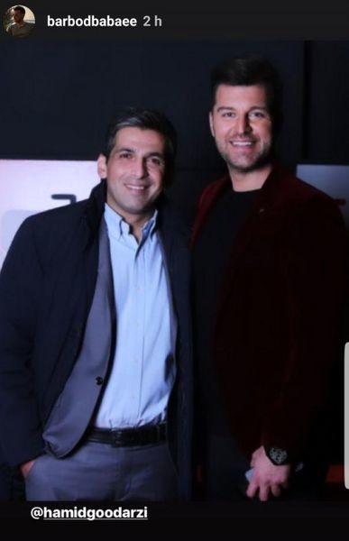 مجری مشهور در کنار حمید گودرزی + عکس