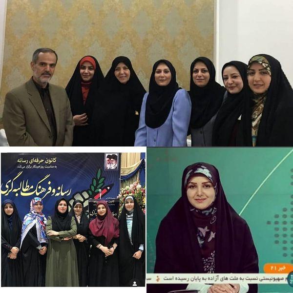 جشن روز خبرنگار میان خانم های خبرنگار و گوینده خبر+عکس