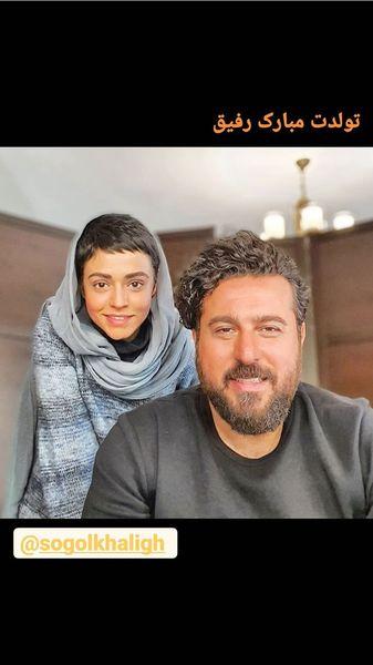 تبریکمحسن کیایی به رفیق همگناهی اش + عکس