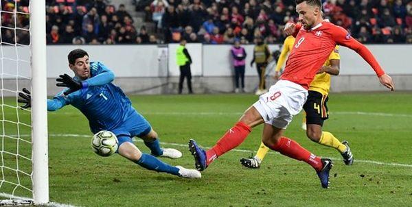 سوئیس با غلبه بر بلژیک صعود کرد
