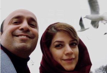 سیاوش صفاریان پور و همسرش روی آب+عکس