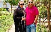 تیپ صورتی همسر نرگس محمدی در پارک+عکس