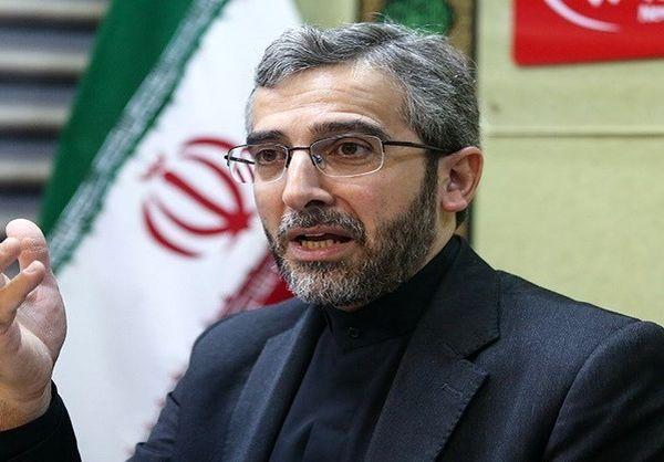 """علی باقری: به رژیم آمریکا ثابت میکنیم """"دوران بزن دررویی قضائی"""" هم تمام شده است"""