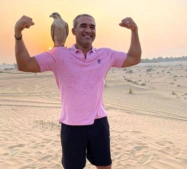 احمدرضا عابدزاده در بیابان های دبی + عکس