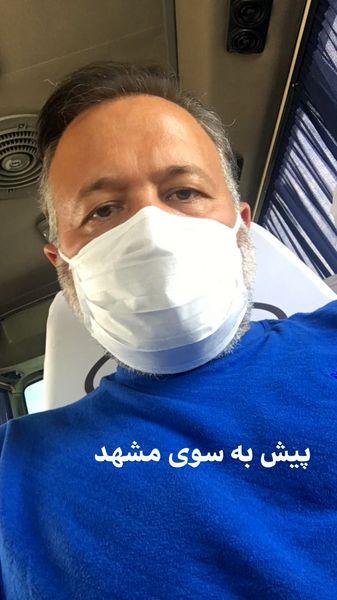 علی صالحی در سفر + عکس
