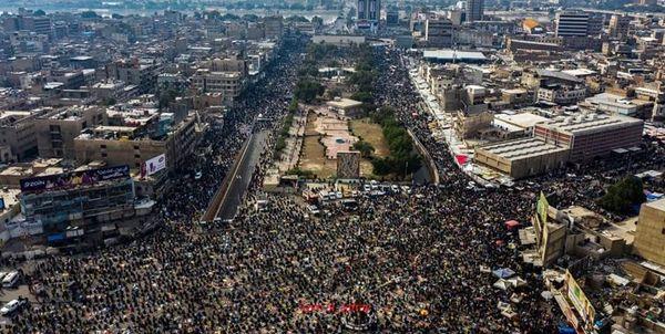 تجمع طرفداران جریان صدر در بغداد