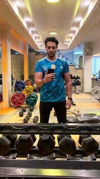امیرحسین آرمان در باشگاه ورزشی اش + عکس