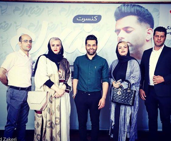 نعیمه نظام دوست و خواهرش در کنسرت رضا بهرام+عکس