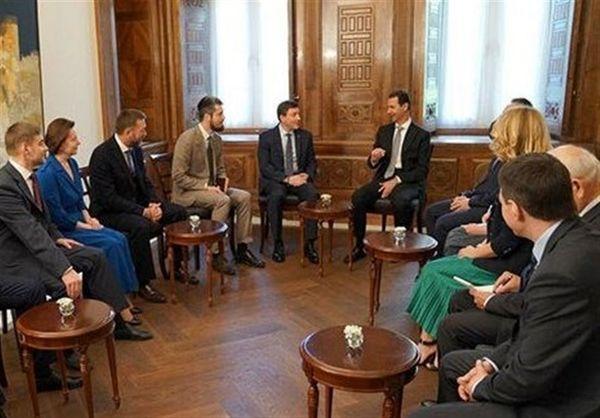 دیدار رئیس جمهور سوریه با هیئتی پارلمانی از روسیه