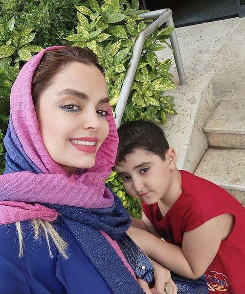 سلفی جدید سپیده خداوردی با پسرش + عکس