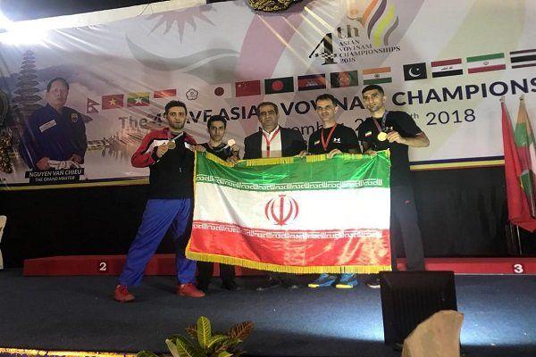 سه مدال طلا و نقره نمایندگان ایران درمسابقات وینام قهرمانی آسیا