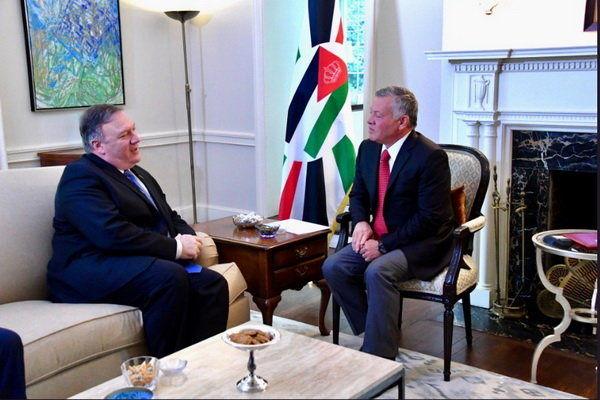 محور دیدار پمپئو با پادشاه اردن در واشنگتن چه بود؟