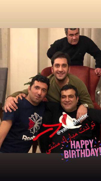 تبریک وحید شیخ زاده به مناسبت دوستش + عکس