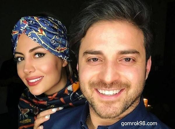 عکس آتلیه ای بابک جهانبخش و همسرش