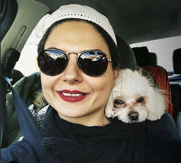 سولماز غنی و سگش + عکس