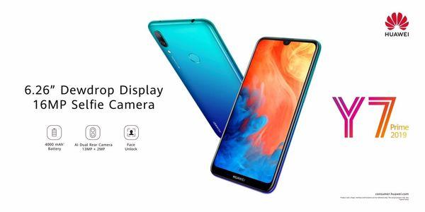 گوشی جوان پسند و مقرون به صرفه هوآوی Y7 Prime 2019
